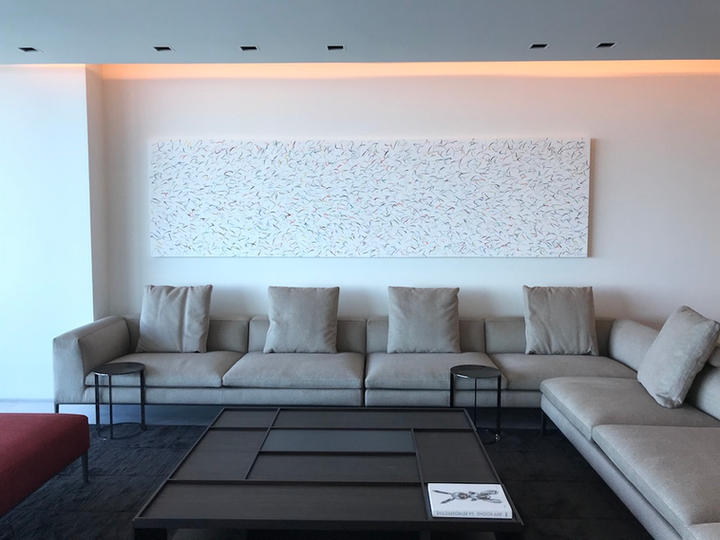 Happy 12, 40x150 inches, acrylic on canvas, Bal Harbour, FL