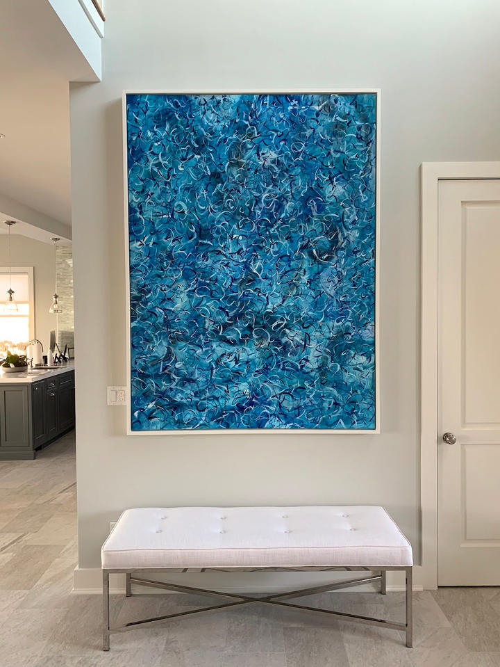 Life In A Moment, 76x56 inches, acrylic on canvas, Westhampton Beach, NY