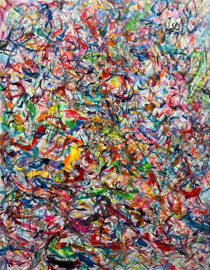 Exhilarating, 46x36 inches, acrylic on canvas, 2021