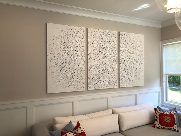 Untitled, 67x105 inches, acrylic on canvas, Bridgehampton, NY