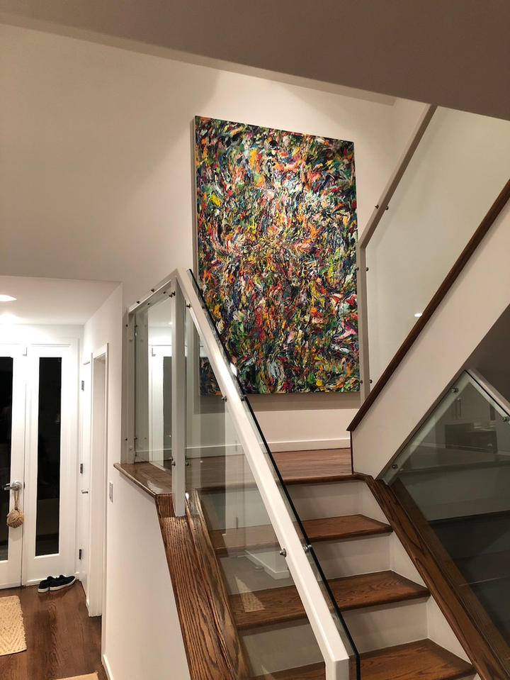 Finding Your Way, 72x48 inches, acrylic on canvas, East Hampton, NY