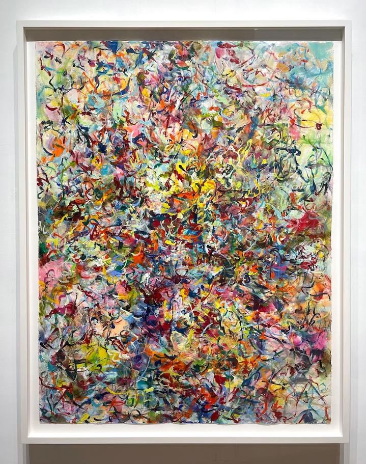 Flourish, 46x36 inches, acrylic on paper, 2021