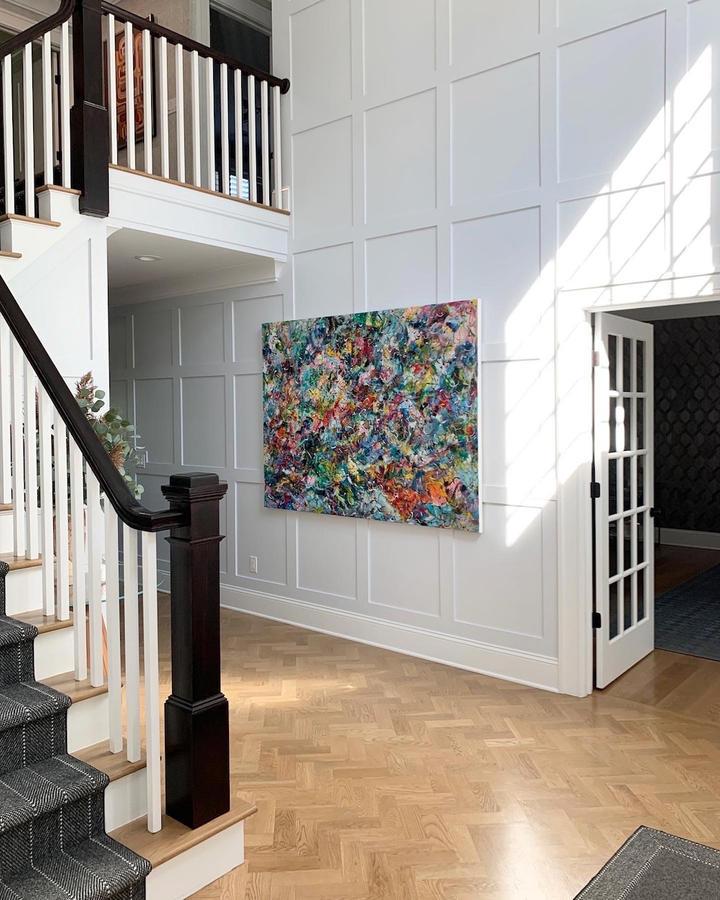 My World, 56x76 inches, acrylic on canvas, Short Hills, NJ