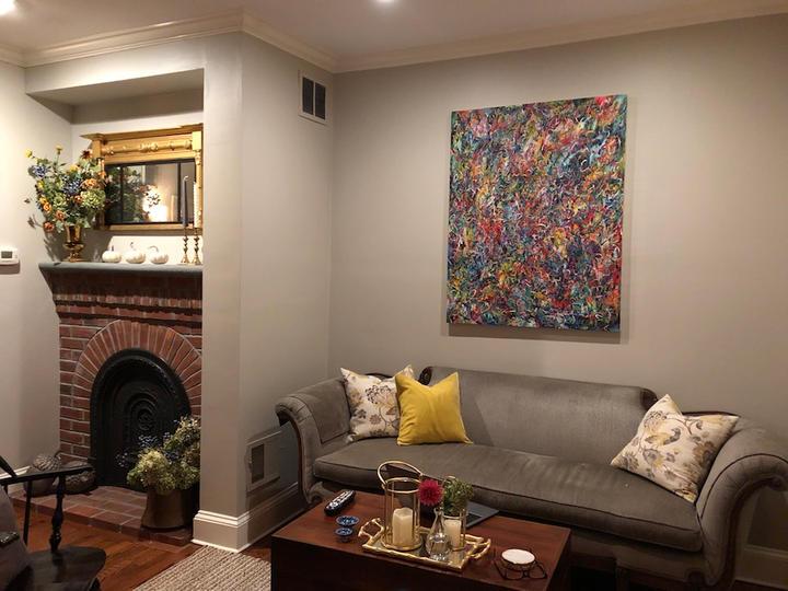 Untitled, 46x36 inches, acrylic on canvas, Philadelphia, PA