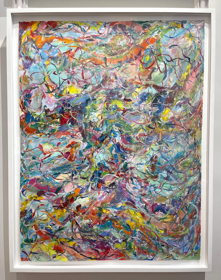 Dancing, 46x36 inches, acrylic on paper, 2021.jpg