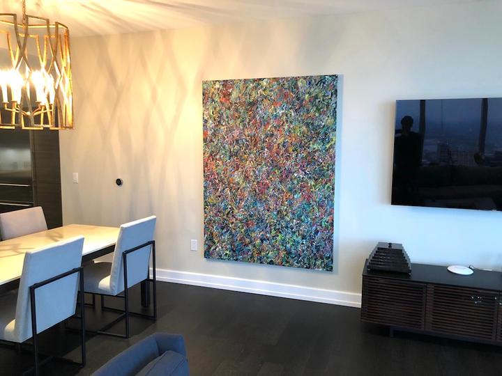Lush, 76x56 inches, acrylic on canvas, Philadelphia, PA