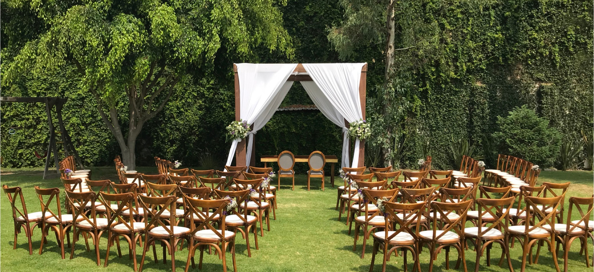 Montaje Boda Civil en Jardín Escondido