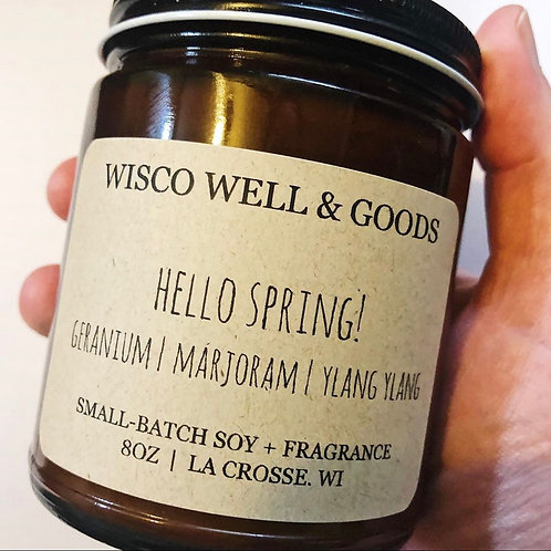 Hello Spring! Candle