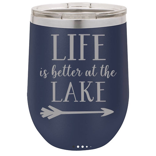 Life at the Lake Wine Mug