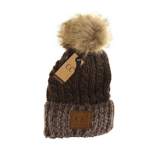 Two-Tone Ombre Beanie