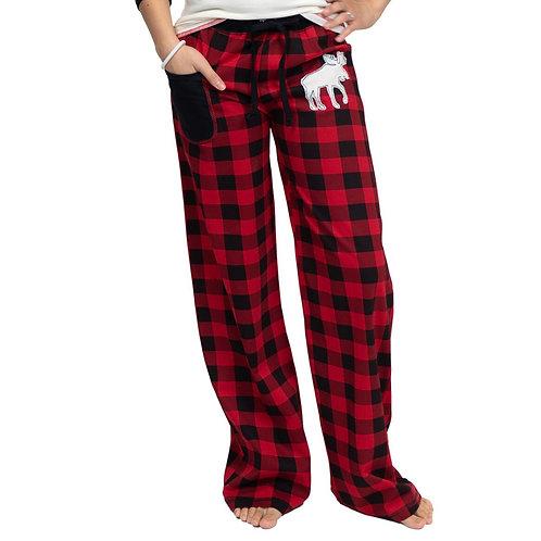 Woman's Moose Plaid Pajama Pant