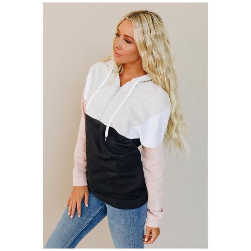 Half Zip Hooded Sweater