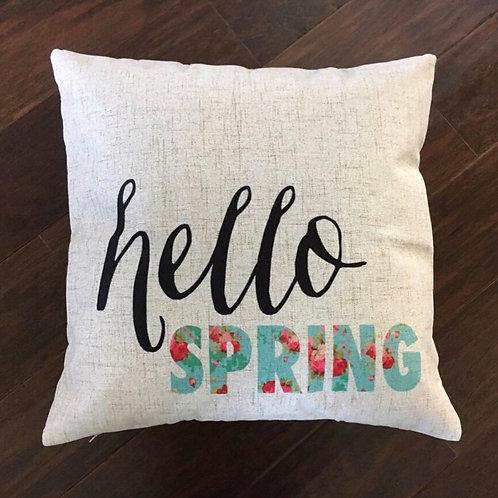 Hello Spring Pillow
