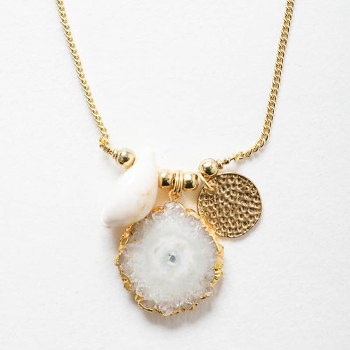 Crystal Shell Necklace