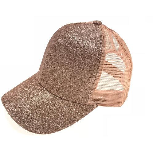 Glitter High Pony CC Ball Cap