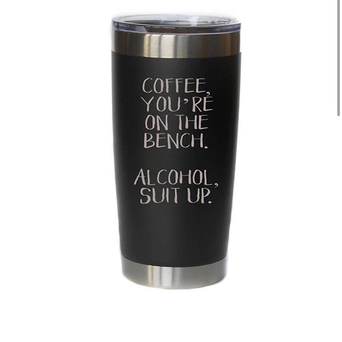 Coffee on Bench Insulated Mug