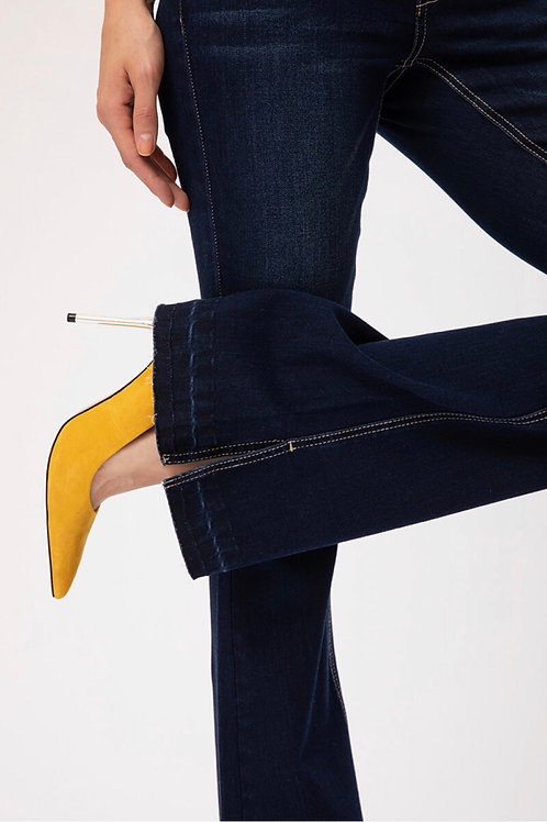 Dark Wash Flared Kancan Jeans