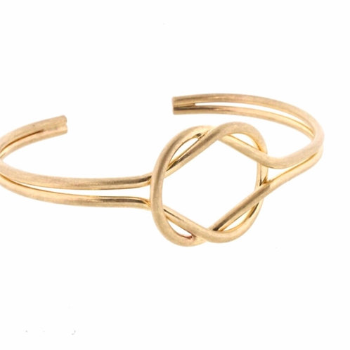 Gold Knotted Cuff