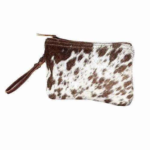 Small White and Brown Myra Handbag