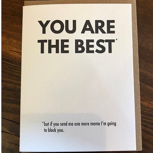 You Are the Best Card