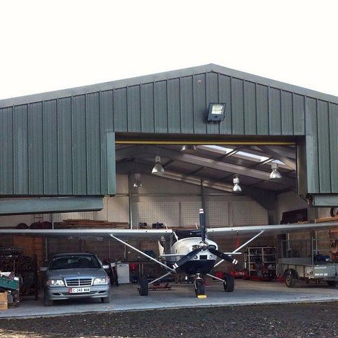 Steel Hangar Building Aircraft Storage