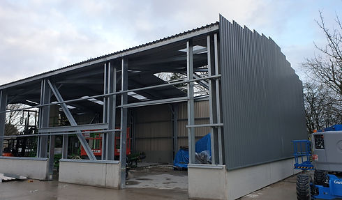 Steel Building Frame Storage Industrial
