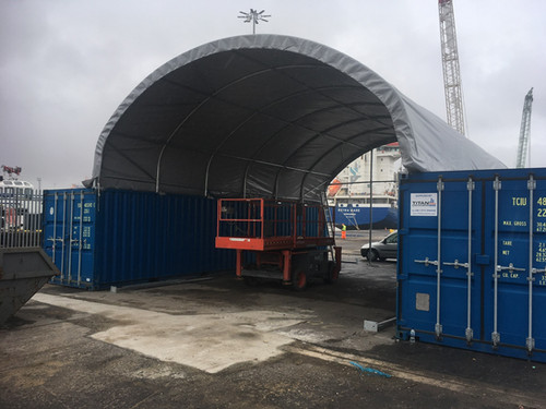 Container Canopy Uk Based Supplier Shelterit