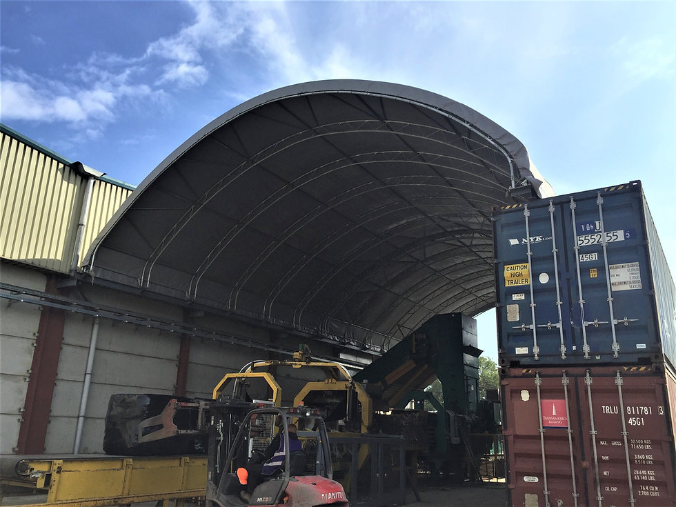 Industrial Container Canopy on Shpping Containers - ShelterIt