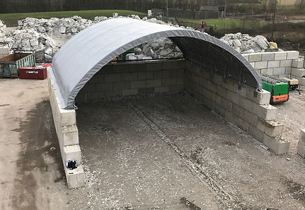 12m recycling bay shelter - ShelterIt