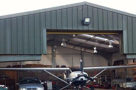 Portal Frame Aero hangar steel building - TotalSpan