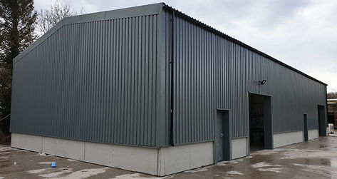 Steeel clad building, portal frame building, industrial building, warehouse building, workshop building