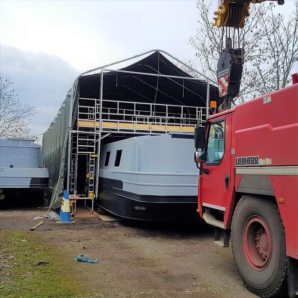 ShelterIt Boat Shelters Boat Repair Bay