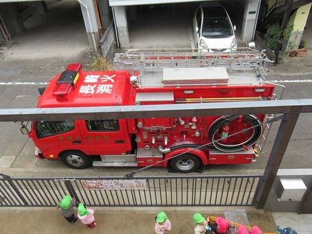 保育園に消防車が来たよ🚒