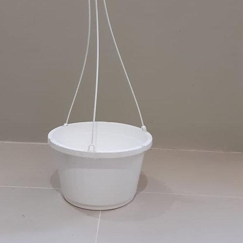 """10"""" White Hanging Basket"""