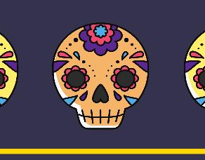 """Ofrenda tradicional """"De corazón mexicano: Entre la risa y el llanto"""""""