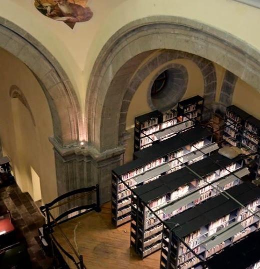 Interior del ex templo de Santa Clara, capilla de la Purísima Concepción. Biblioteca del H. Congreso de la Unión de México. Ciudad de México, Centro Histórico