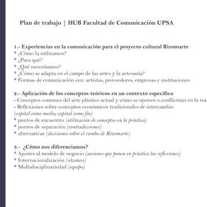 Reflexiones sobre nuestra participación en el HUB UPSA