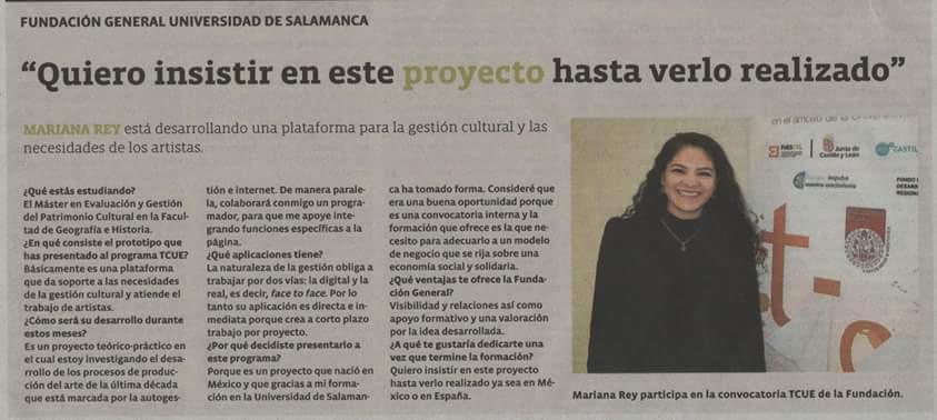 Primer voto de confianza otorgado por la Fundación General de la Universidad de Salamanca