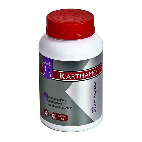 Óleo de Cártamo(L.A) + Vitamina E - 1g - KARTHAMO -120 cápsulas - KANSLA