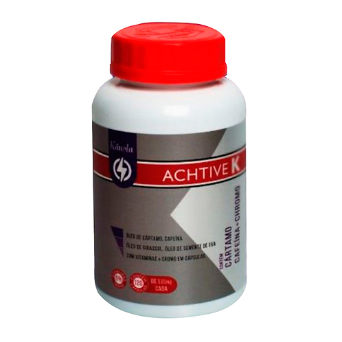 Cafeína-Cártamo-Chromo-ACHTIVE K - 120 Cápsulas - KANSLA