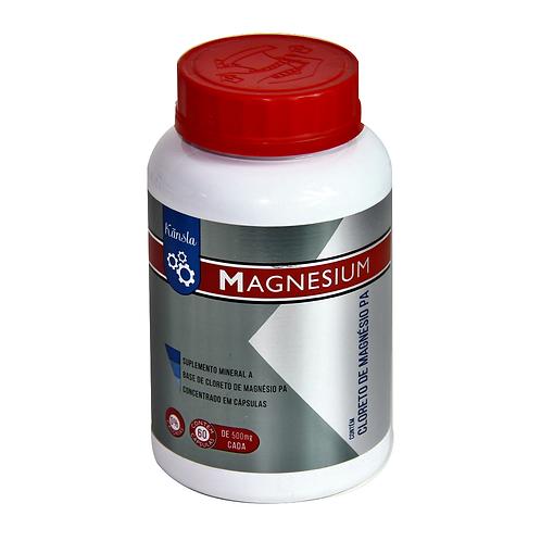 Cloreto de Magnésio PA - 500mg - MAGNESIUM - 60 Cápsulas - KANSLA