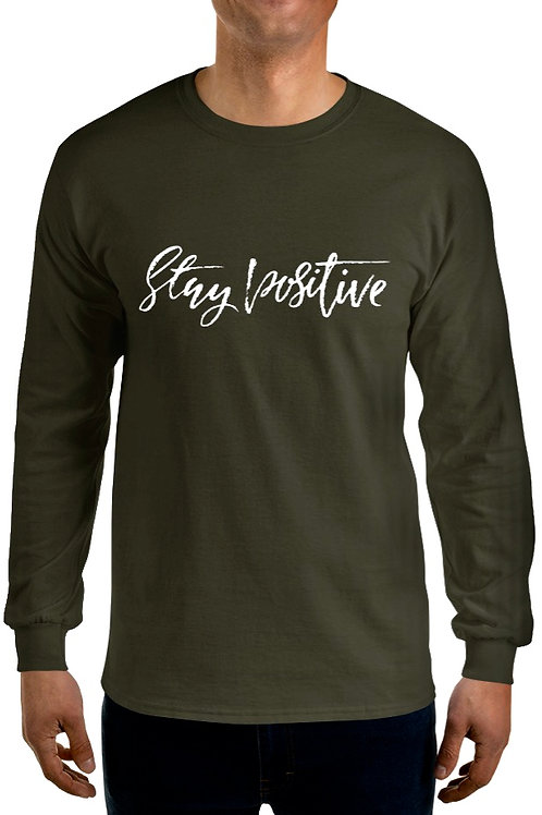 "(Olive Green) Stay Positive ""Live Life To Fullest"""