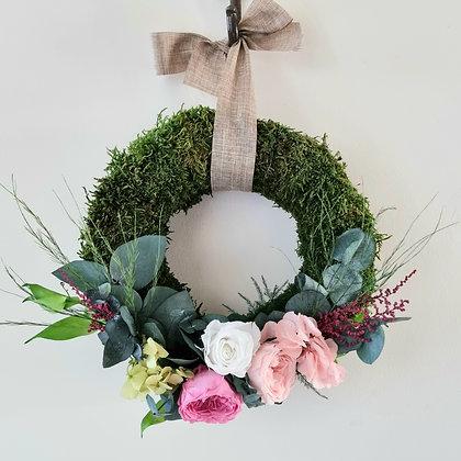 Indoor flower wreath