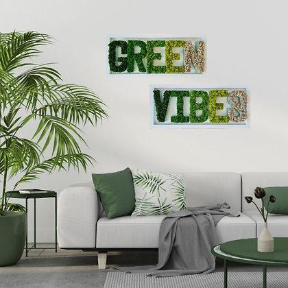 Framed Moss Letters