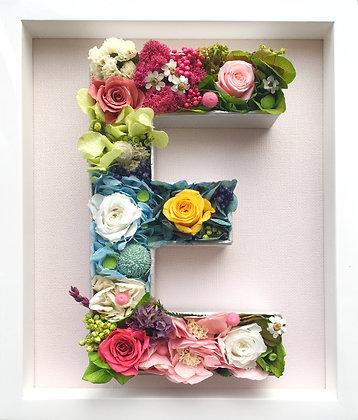 Custom flower letter - framed