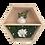 Thumbnail: Floral hexagon shelf - gardenia