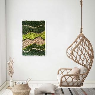 Evergreen moss art interior decor