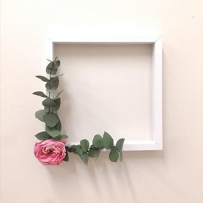 Shabby flower frame