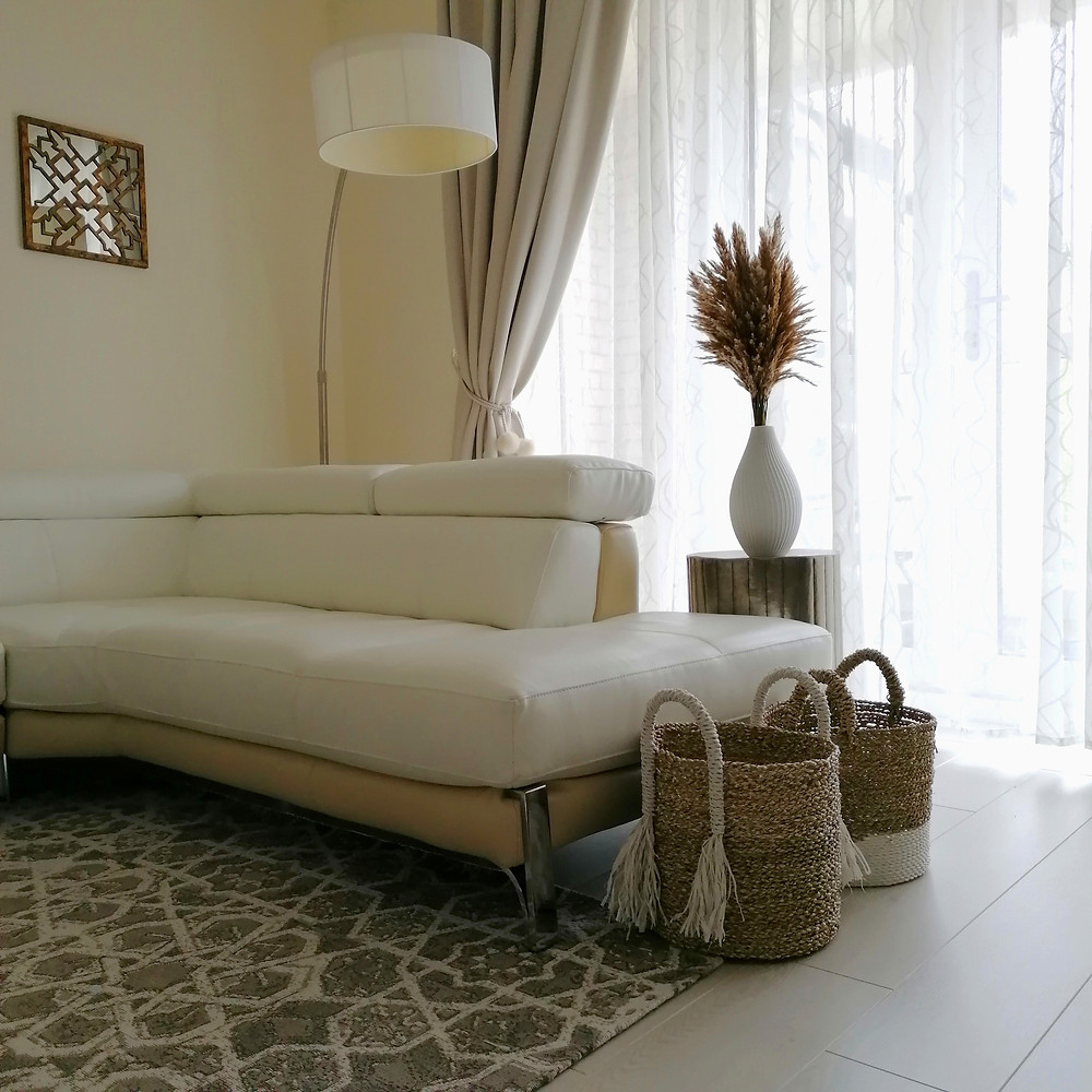 Pampas grass interior neutral decor