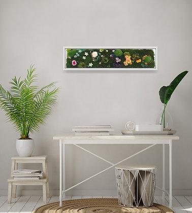 Floral garden panel